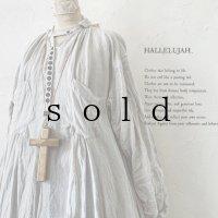 HALLELUJAH/1890's Bourgeron 羊飼いシャツワンピース・Light Gray