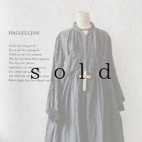 当店限定 HALLELUJAH/羊飼いのノマドドレス・Ink Black×Black