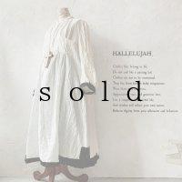 当店限定 HALLELUJAH/羊飼いのノマドドレス・Off White×Black