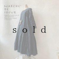 MARCHE' DE SOEUR/サイドタックワンピース・濃紺