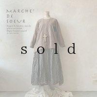 MARCHE' DE SOEUR/サイドピックプルオーバー・ブラウン
