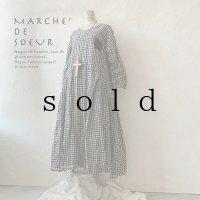 MARCHE' DE SOEUR/サイドタックワンピース・赤耳ギンガム