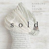 MARCHE' DE SOEUR/革タグ付きターバン・アナベル×アンティークミルク