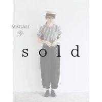 MAGALI /ツイルリネンマリンパンツ・ブラック