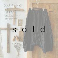 MARCHE' DE SOEUR/バギーパンツ・黒