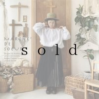 MARCHE' DE SOEUR/教会のスカート・アンティークブラック×スミクロ