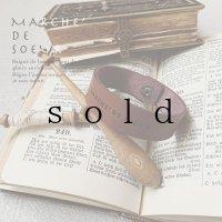 MARCHE' DE SOEUR/革のブレスレット・1.5幅
