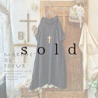 MARCHE' DE SOEUR/ラッフル襟のワンピース・スミクロ