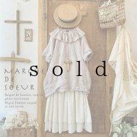 MARCHE' DE SOEUR/タック襟の半袖バルーンプルオーバー・ファナージュピンク