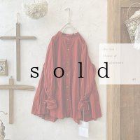 the last flower of the afternoon/静寂の滴り robe shirt・agate