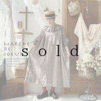 MARCHE' DE SOEUR/タック襟パフ袖ワンピース・セピア