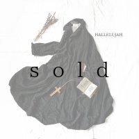 HALLELUJAH/Robe de Berger 1800s 襟付き羊飼いローブ1800年代・black