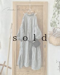 MARCHE' DE SOEUR/ダンガリーリネン・種蒔きポケットワンピース